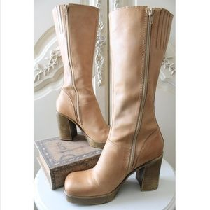 Steve Madden Lusst Tan Leather Boots